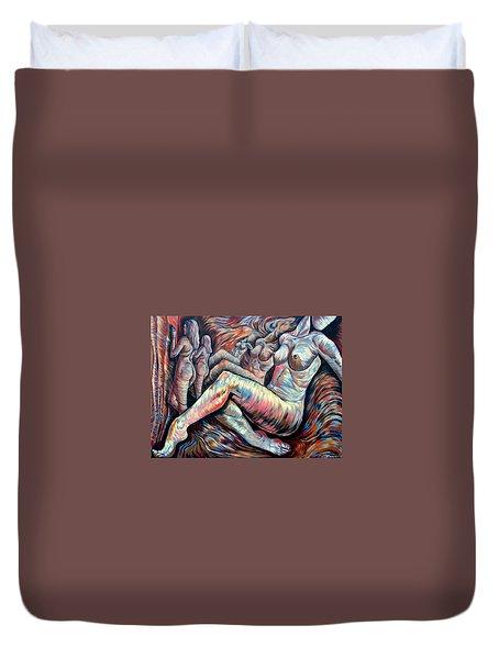 Echo Of A Nude Gesture II Duvet Cover by Darwin Leon