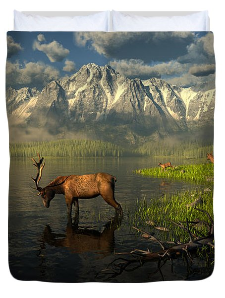 Echoes Of A Lost Frontier Duvet Cover