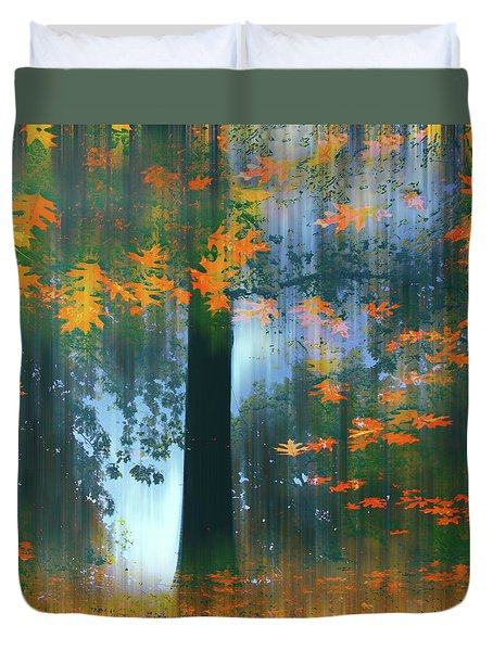Duvet Cover featuring the photograph Echoes Of Autumn by Jessica Jenney