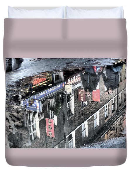Echoes Of China Duvet Cover