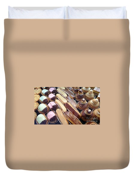 Duvet Cover featuring the photograph Eclaires by Therese Alcorn