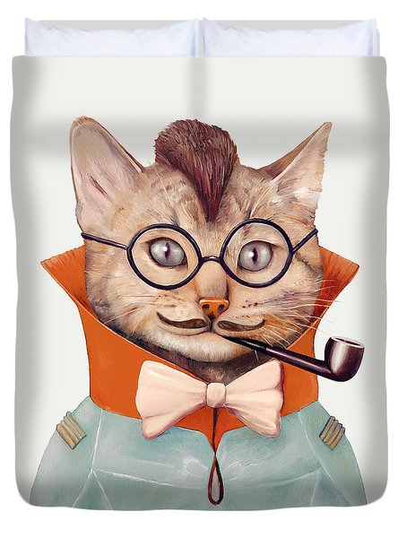 Eclectic Cat Duvet Cover by Animal Crew