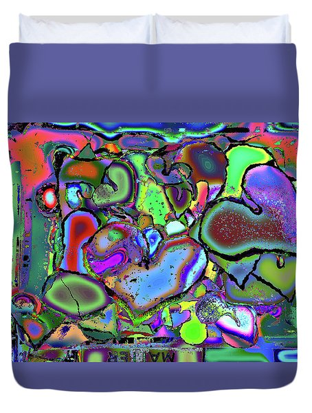 Eclectic Love Overflows Duvet Cover