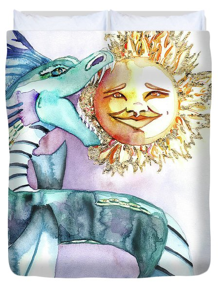 Eclipse Dragon Sun Eater Duvet Cover