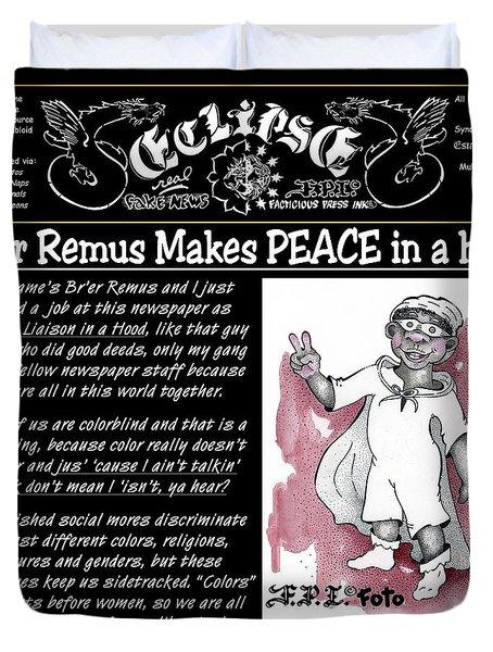Real Fake News Br'er Remus Duvet Cover