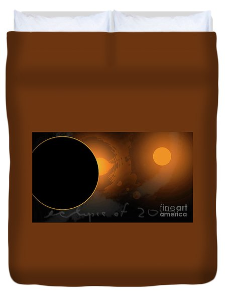 Eclipse Of 2017 W Duvet Cover