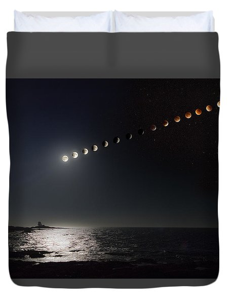 Eclipse Of The Moon Duvet Cover