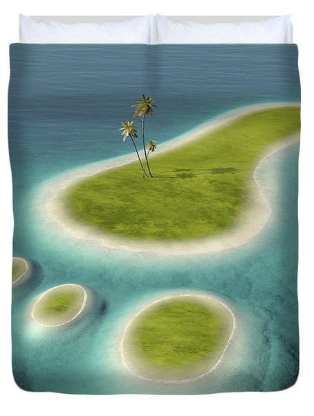 Eco Footprint Shaped Island Duvet Cover