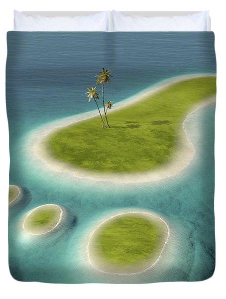 Eco Footprint Shaped Island Duvet Cover