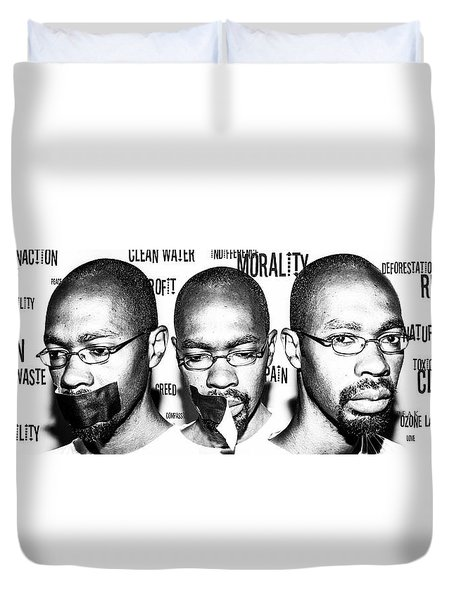 Duvet Cover featuring the photograph Ecological Identity by Eric Christopher Jackson