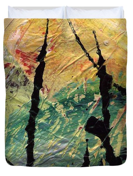 Duvet Cover featuring the painting Ecstasy II by Angela L Walker