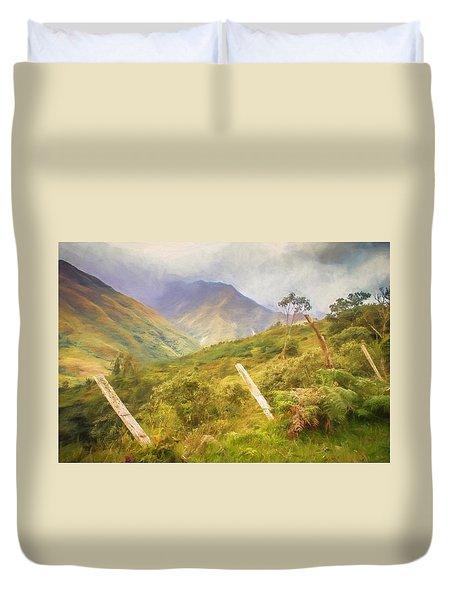 Ecuadorian Mountain Forest Duvet Cover