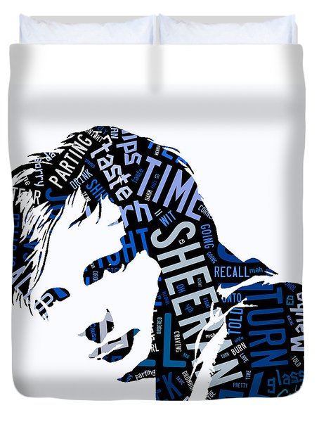 Ed Sheeran Give Me Love Duvet Cover