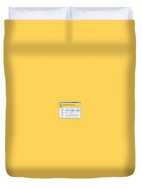 Edb To Ps T Software  Duvet Cover