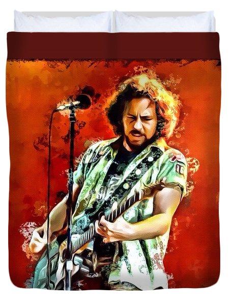Eddie Vedder Of Pearl Jam Duvet Cover