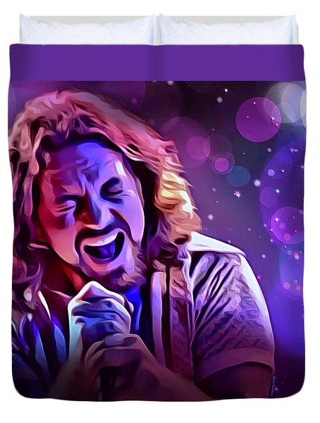 Eddie Vedder Portrait Duvet Cover