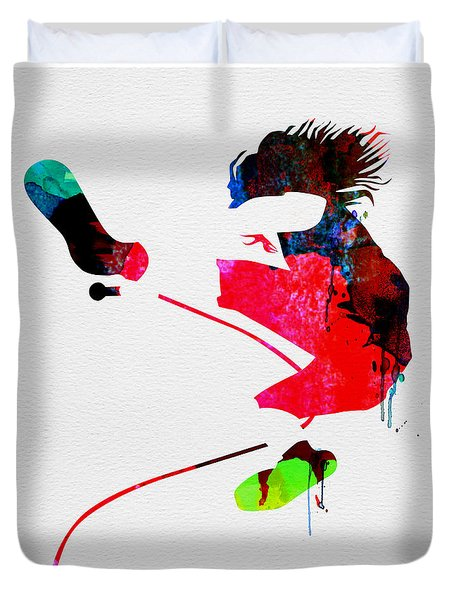 Eddie Watercolor Duvet Cover