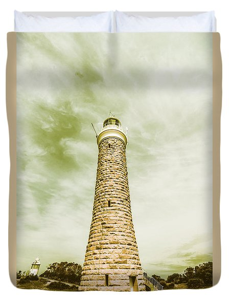 Eddystone Point Lighthouse Duvet Cover