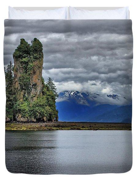Eddystone Rock In Misty Fjords National Monument Duvet Cover