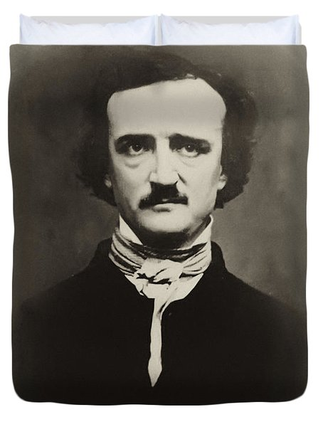 Edgar Allen Poe Duvet Cover by Bill Cannon
