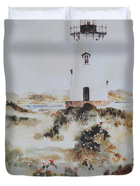 Edgartown Light Marthas Vineyard Duvet Cover