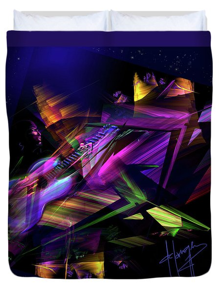 Edge Of The Universe Duvet Cover by DC Langer