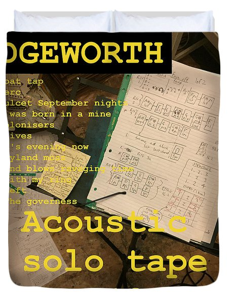 Edgeworth Acoustic Solo Tape H Duvet Cover