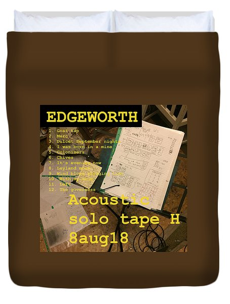 Edgeworth Acoustic Solo Tape H Duvet Cover