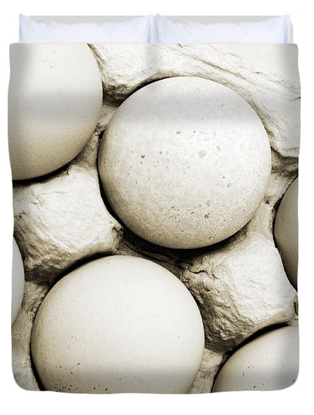 Edgy Farm Fresh Eggs Duvet Cover