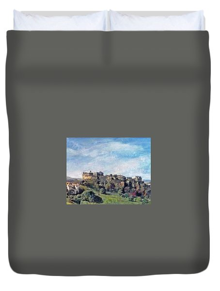 Edinburgh Castle Bright Duvet Cover by Richard James Digance