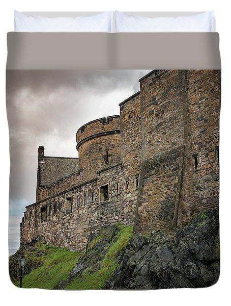 Edinburgh Castle Closeup Duvet Cover