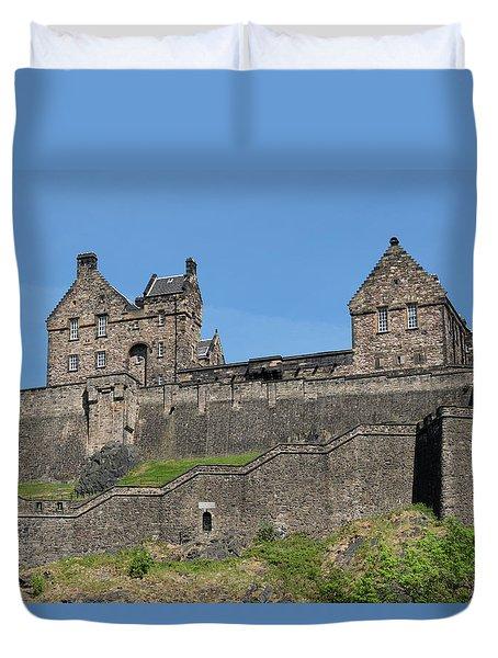 Duvet Cover featuring the photograph Edinburgh Castle by Jeremy Lavender Photography