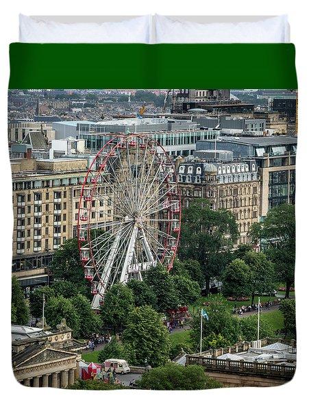 Edinburgh Ferris Wheel Duvet Cover