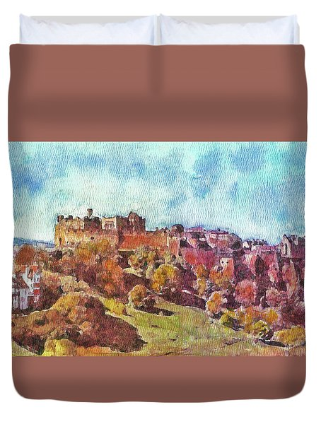 Edinburgh Skyline No 1 Duvet Cover by Richard James Digance