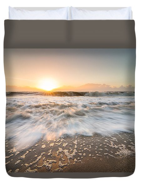 Duvet Cover featuring the photograph Edisto Island Sunrise by Serge Skiba