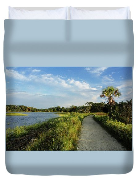 Duvet Cover featuring the photograph Edisto by Jessica Brawley