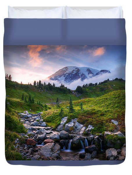 Edith Creek Sunset Duvet Cover