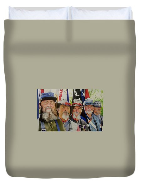 Edmund Ruffin Fire Eaters Color Guard 2016 Duvet Cover