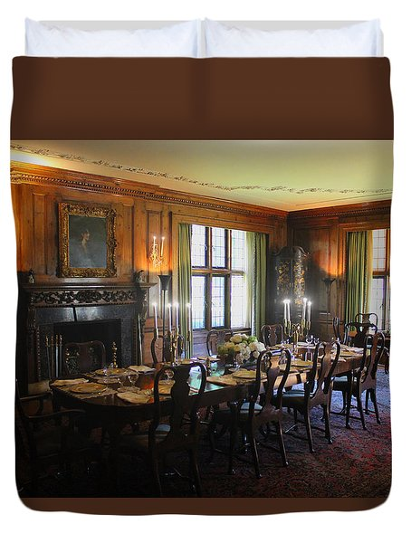 Duvet Cover featuring the photograph Edsel And Eleanor Ford Dining Room by Michael Rucker