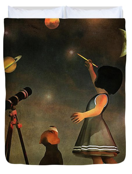 Educating Astronomy Duvet Cover