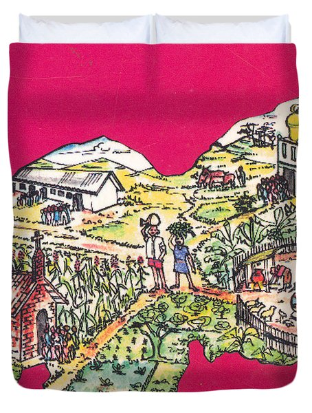 Education Et Citoyennete Au Rwanda Duvet Cover by Emmanuel Baliyanga
