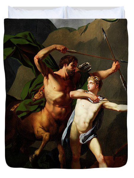 Education Of Achilles By The Centaur Chiron Duvet Cover