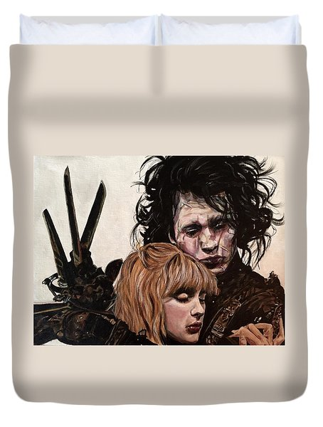Edward And Kim Duvet Cover