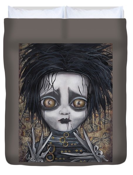 Edward Scissorhands Duvet Cover by Abril Andrade Griffith