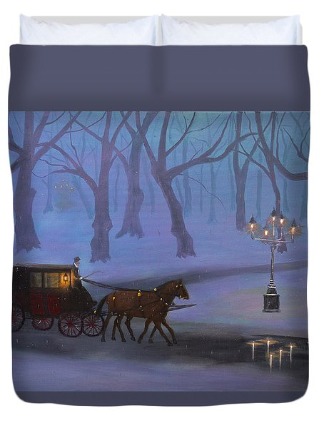 Eerie Evening Duvet Cover