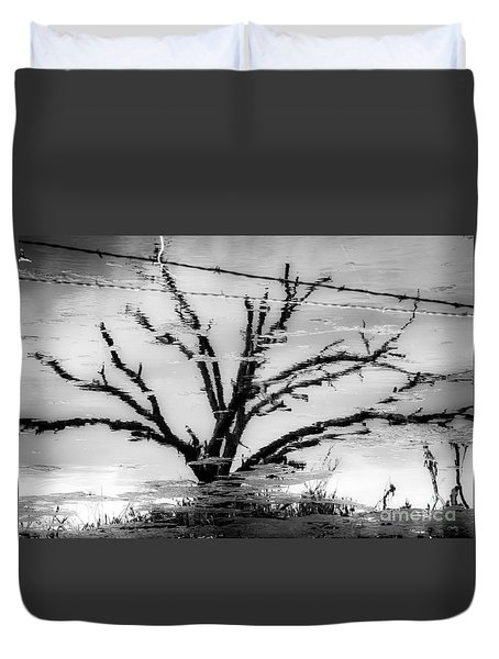 Eerie Reflections Duvet Cover