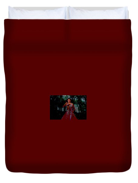 Eerie Woods Duvet Cover by Brian Hughes
