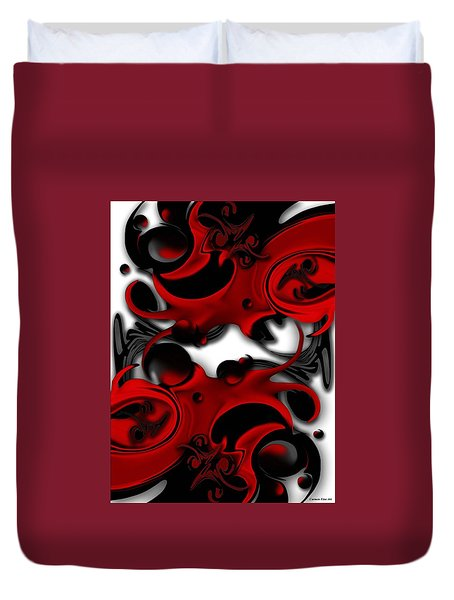 Duvet Cover featuring the digital art Effective Form Constructed by Carmen Fine Art