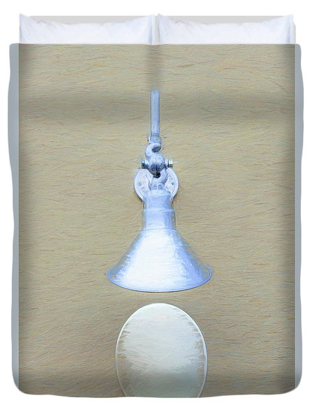 Duvet Cover featuring the photograph Egg Drop Lamp by Gary Slawsky
