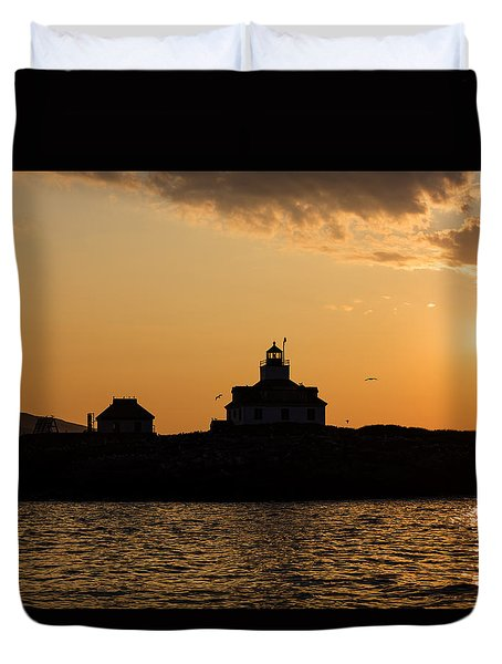 Egg Rock Lighthouse Duvet Cover by Gary Smith